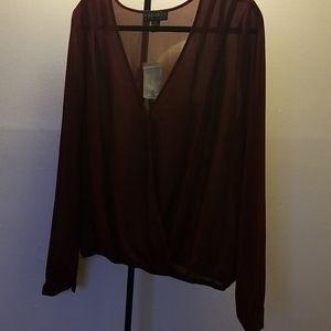 NWT Forever 21+ sheer blouse